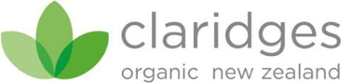 Claridges Organic New Zealand